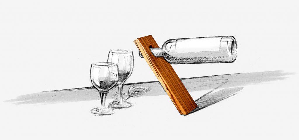 Weinständer aus Holz